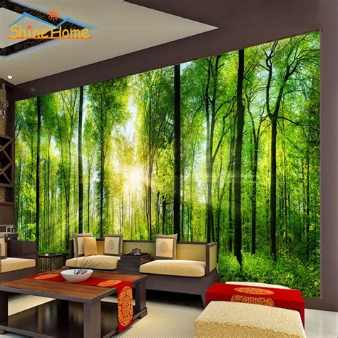 3d Wallpapers For Walls In by 2017 Bright In Forest Trees 3d Wallpaper For Wall