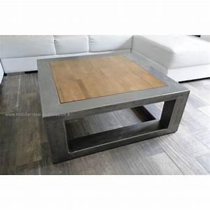 Table En Acier : table basse acier bois pierre sala design pierre sala ~ Teatrodelosmanantiales.com Idées de Décoration