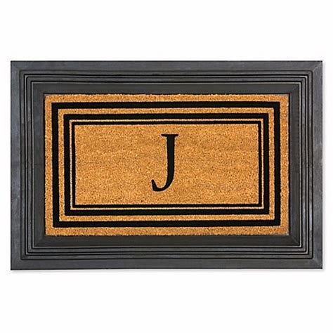 Doormat Frame by Rubber Door Mat Frame And Flocked Monogram Inserts Bed