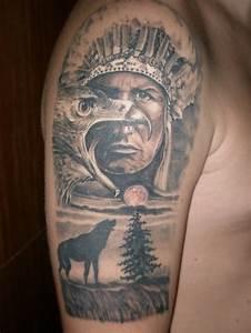 Loup Tatouage Signification : 1001 mod les impressionnants du tatouage indien ~ Dallasstarsshop.com Idées de Décoration