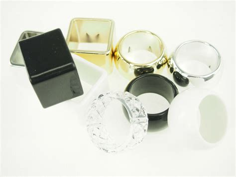 napkin holder wedding ring metallic gold silver white black clear wedding bridal ebay