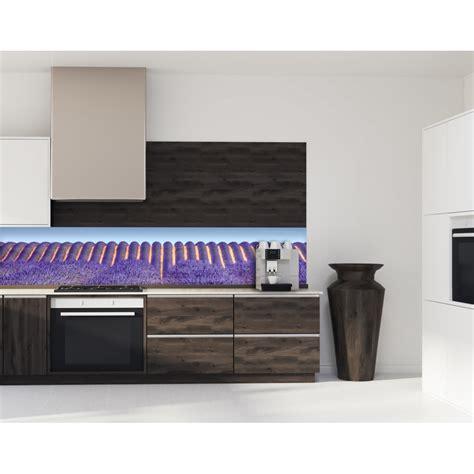 cuisine lavande crédence murale pour cuisine équipée lavande fleur
