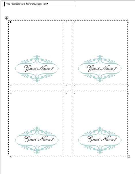 free blank wedding place card template how to make your own place cards for free with word and