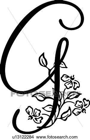 alphabet capital  lettered monogram script clipart  fotosearch