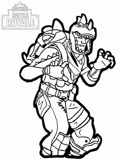 Fortnite Coloring Rex Pages Battle Royale Children
