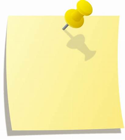 Note Pinned Clipart Thumbtack Yellow Sticky Tack