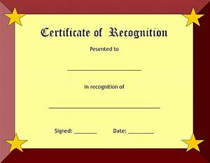 Printable Blank Certificate Template Word | Calendar ...