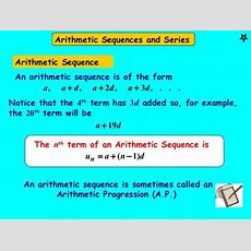 Arithmetic Sequences And Series  A Plus Topper