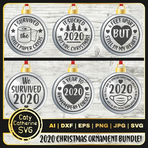 I'm pam from the birch cottage, and i'm back again this month sharing with you this collection of 20 free svg files that you. 2020 Christmas Ornament Bundle Funny SVG Cut Files - CATY ...