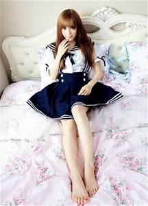 Chinese Foot Chart Womens School Girl Uniforms Costume