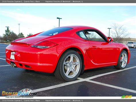guards red porsche 2010 porsche cayman s guards red black photo 5
