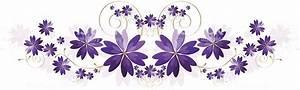 Floral Border Design Element Rich Purple Lavender Stock ...