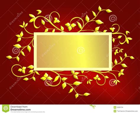 christmas card background red  gold stock