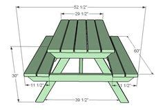 build  picnic table  attached benches