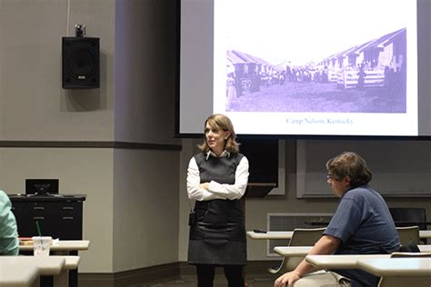 amy murrell taylor visits campus department  history