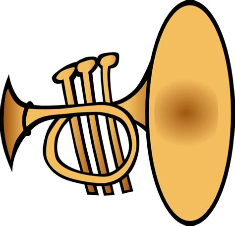 Trumpet Clipart Silly Trumpet Clip At Clker Vector Clip