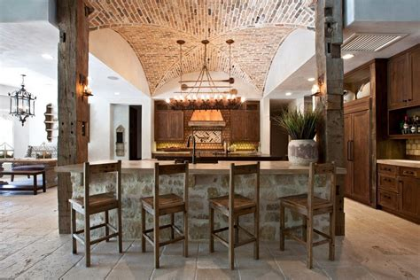brick barrel vaulted ceiling exterior craftsman