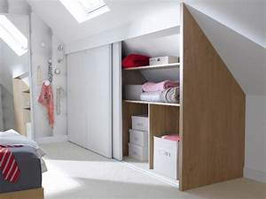 une chambre mansardee transformee en dressing 2 chambre With creer un placard dans une chambre