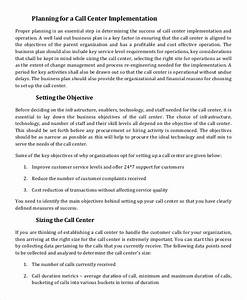 call center plan template 28 images agreement for With call center action plan template