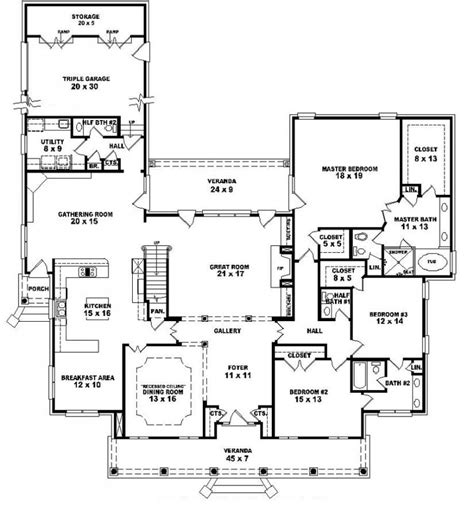 5 Bedroom House Plans 2 Story by 653903 1 5 Story 5 Bedroom 4 Baths 2 Half Baths