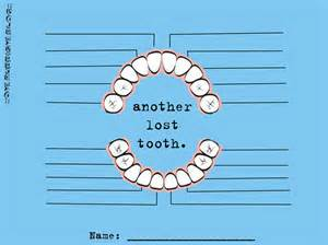 Lost Tooth Chart Printable