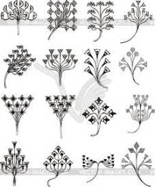 Jugendstil Florale Ornamente : einfache florale ornamente im jugendstil vektorisiertes bild ~ Orissabook.com Haus und Dekorationen