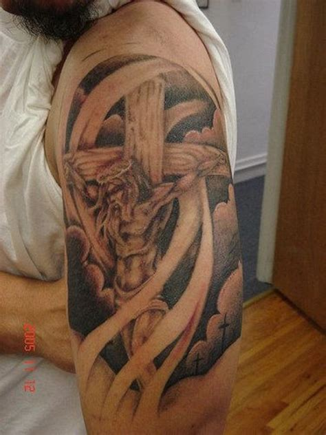 amazing christian shoulder tattoos