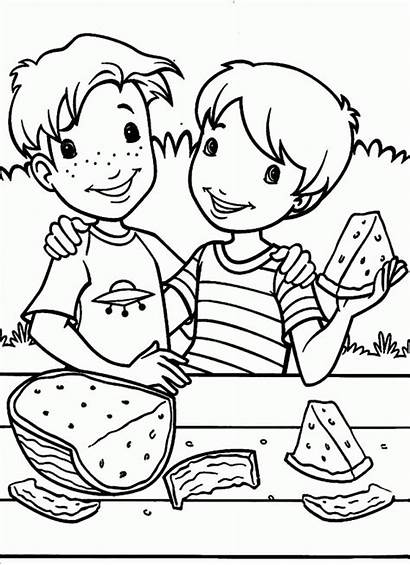 Coloring Holly Hobbie Clipart Colorare Eating Watermelon