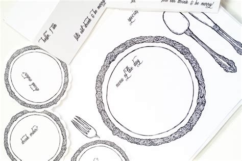 place setting template diy reusable table setting placemats my secrets