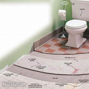 how to install cement board on a floor the family handyman With how to install cement board on bathroom floor