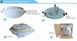 Light ceiling fixtures inch