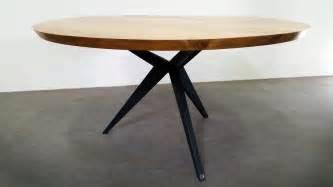 table ronde bois brut table repas papillon ronde artmeta tables m 233 tal et bois id 233 es pour la maison