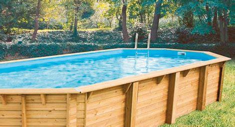 liner piscine en 8 liner bleu pour piscine bois bahia 8 60 x 4 70 m h 1 30