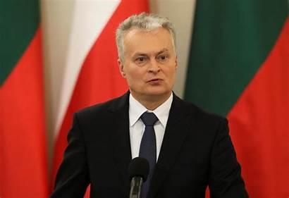 President Lithuanian Reuters Party Congratulates Zelensky Presidential