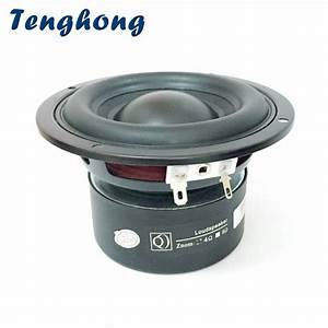 Tenghong 4 Inch Subwoofer 4  8 Ohm 40w Portable Audio