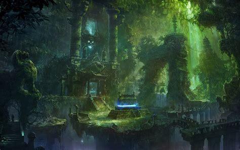 Legend Of Zelda Desktop Background Fantasy Forest Wallpaper Hd Wallpapersafari