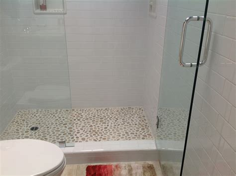complete tile shower install part 6 installing the mosaic dashing wooden bench closed interesting wall front