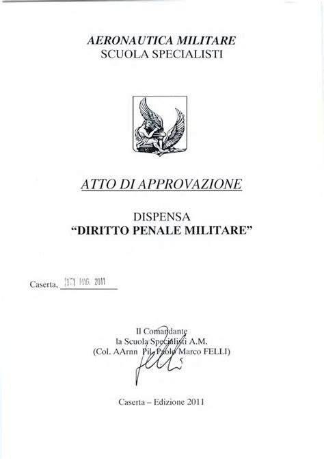 Dispensa Diritto Penale dispensa di diritto penale militare