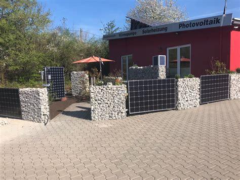 Solar Zaun  Solar Garten  Solar Photovoltaik Waermepumpe