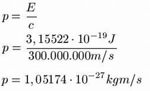 Lichtgeschwindigkeit Berechnen : photonen impuls ~ Themetempest.com Abrechnung