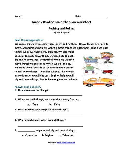 Get free worksheets in your inbox! Reading Worksheets | Second Grade Reading Worksheets ...