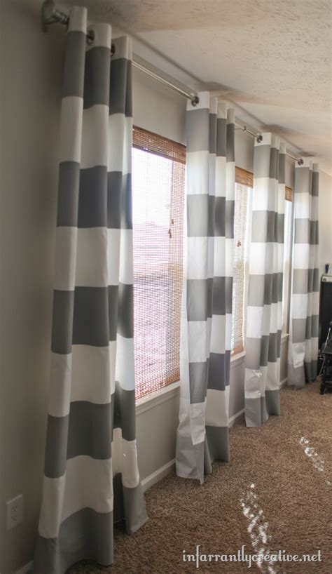 grey striped curtain panels how to paint stripes on curtains