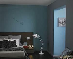 Schöner Wohnen Tapeten Schlafzimmer : wandfarbe lagune 30 kreative beispiele ~ Michelbontemps.com Haus und Dekorationen