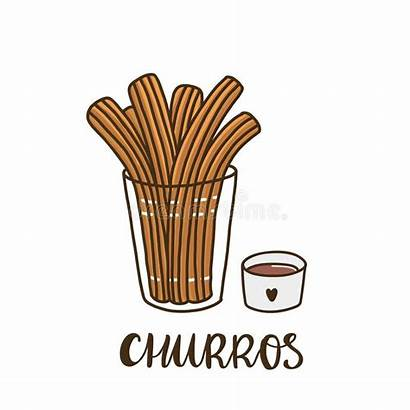 Churros Churro Spanish Traditional Dessert Sign Chocolate