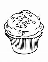 Coloring Cupcakes Pages Netart sketch template
