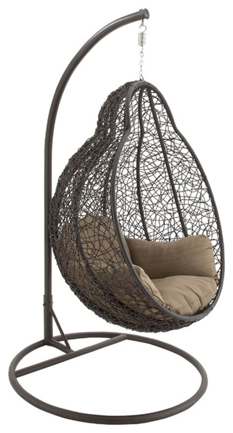 metal pe rattan pod chair transitional hammocks and