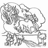 Elijah Chariot Coloring Fire Pages Heaven Prophet Bible Goes Crafts Chariots Printable God Sunday Mount Carmel Colouring Fiery Story Coloringsun sketch template