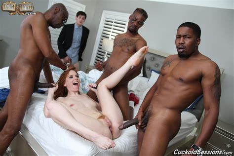 Pepper Hart Gangbanged By Three Black Studs While Her