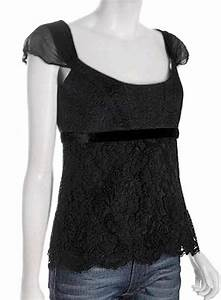 ELIE TAHARI Black Embroidered Lace ELIA Blouse Top NWT MEDIUM 32800 EBay