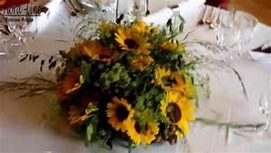 Tischdeko Mit Sonnenblumen : luftige sonnenblumen tischdekoration im schloss youtube ~ Lizthompson.info Haus und Dekorationen